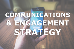 communications and engagement strategy button